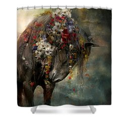 Shower Curtain featuring the painting Charmer  by Dorota Kudyba