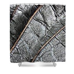 Charred Pine Bark Shower Curtain