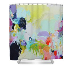 Chartreuse Stop Shower Curtain
