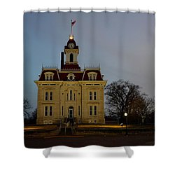 Chase County Courthouse Shower Curtain by Keith Stokes
