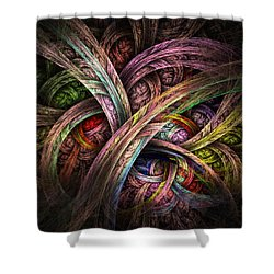 Shower Curtain featuring the digital art Chasing Colors - Fractal Art by NirvanaBlues