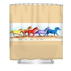 Chasing My Hopes And Dreams Shower Curtain by LeAnne Sowa