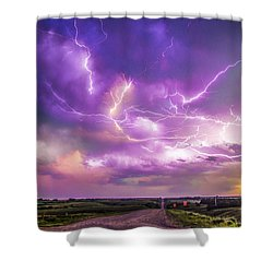 Chasing Nebraska Lightning 056 Shower Curtain