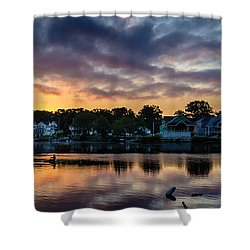 Chasing The Blues Away Shower Curtain