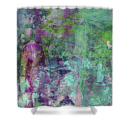Chasing The Dream - Contemporary Colorful Abstract Art Painting Shower Curtain