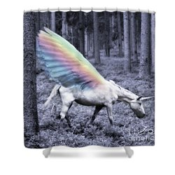 Chasing The Unicorn Shower Curtain