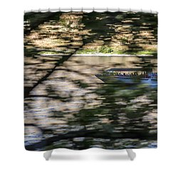 Chasing Tour Boats Shower Curtain