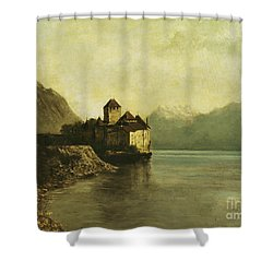 Chateau De Chillon Shower Curtain by Gustave Courbet