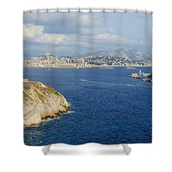 Chateau D'if-island Shower Curtain
