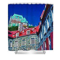 Chateau Frontenac Shower Curtain by Dennis Cox