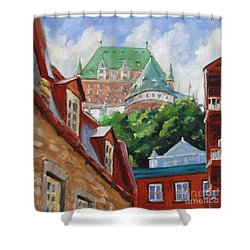 Chateau Frontenac Shower Curtain by Richard T Pranke