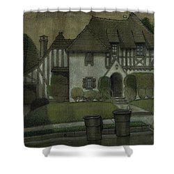 Chateau In The City Shower Curtain