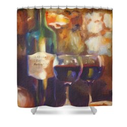 Chateau Lafite Rothschild Shower Curtain by David Millenheft