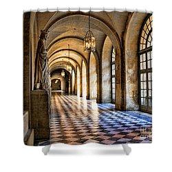 Chateau Versailles Interior Hallway Architecture  Shower Curtain