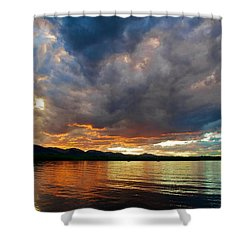 Chatfield Technicolor Sunset Shower Curtain