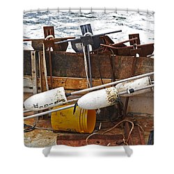 Shower Curtain featuring the photograph Chatham Fishing by Charles Harden