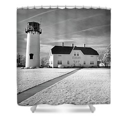 Chatham Light Black And White Shower Curtain