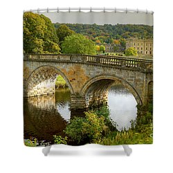 Chatsworth House And Bridge Shower Curtain