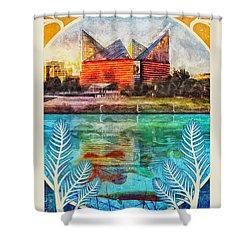 Chattanooga Aquarium Poster Shower Curtain by Steven Llorca