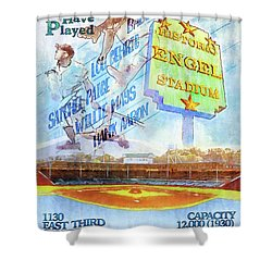 Chattanooga Historic Baseball Poster Shower Curtain