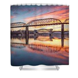 Chattanooga Sunset 5 Shower Curtain