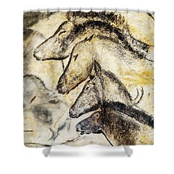 Chauvet Horses Shower Curtain