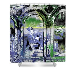 Shower Curtain featuring the photograph Chavannes Astronomy Philosophy by Robert G Kernodle