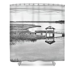 Chechessee Dock Shower Curtain