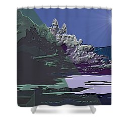 Shower Curtain featuring the digital art 1978 - Nowhere  by Irmgard Schoendorf Welch