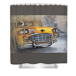 Checker Taxi Shower Curtain
