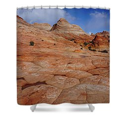 Checkered Red Rock Shower Curtain