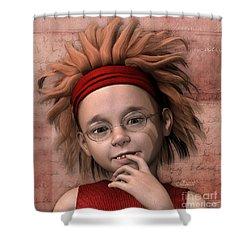 Cheeky Little Miss Shower Curtain