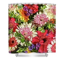 Cheerful Spring Collection - Gerbera Daisies Shower Curtain
