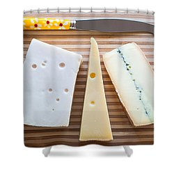 Shower Curtain featuring the photograph Cheese Board by Ari Salmela