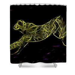 Cheetah Body Built For Speed Shower Curtain