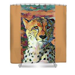 Cheetah Face Shower Curtain