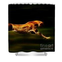 Cheetah Hunting His Prey Shower Curtain by Pamela Johnson