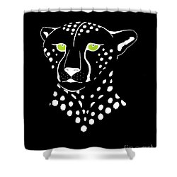 Cheetah Inverted Shower Curtain