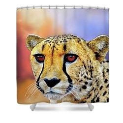 Cheetah Shower Curtain by Janette Boyd