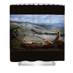 Cheetah Ridge Shower Curtain