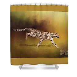 Cheetah Running Shower Curtain