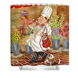Chefs Go To Market II Shower Curtain