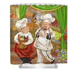 Chefs Go To Market IIi Shower Curtain