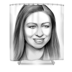 Chelsea Clinton Shower Curtain by Greg Joens