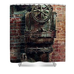 Chelsea Market Water Valve Shower Curtain by Joey Agbayani
