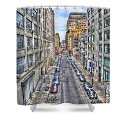 Chelsea Street From The High Line Shower Curtain by Randy Aveille