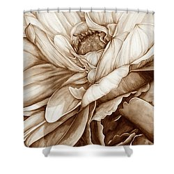 Chelsea's Bouquet 2 - Neutral Shower Curtain