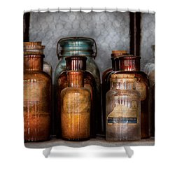 Chemist - Various Chemicals Shower Curtain by Mike Savad