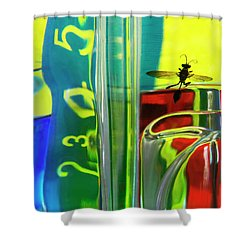Shower Curtain featuring the photograph Chemistry Lab 1 by Elena Nosyreva