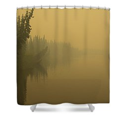 Shower Curtain featuring the photograph Chena River by Gary Lengyel